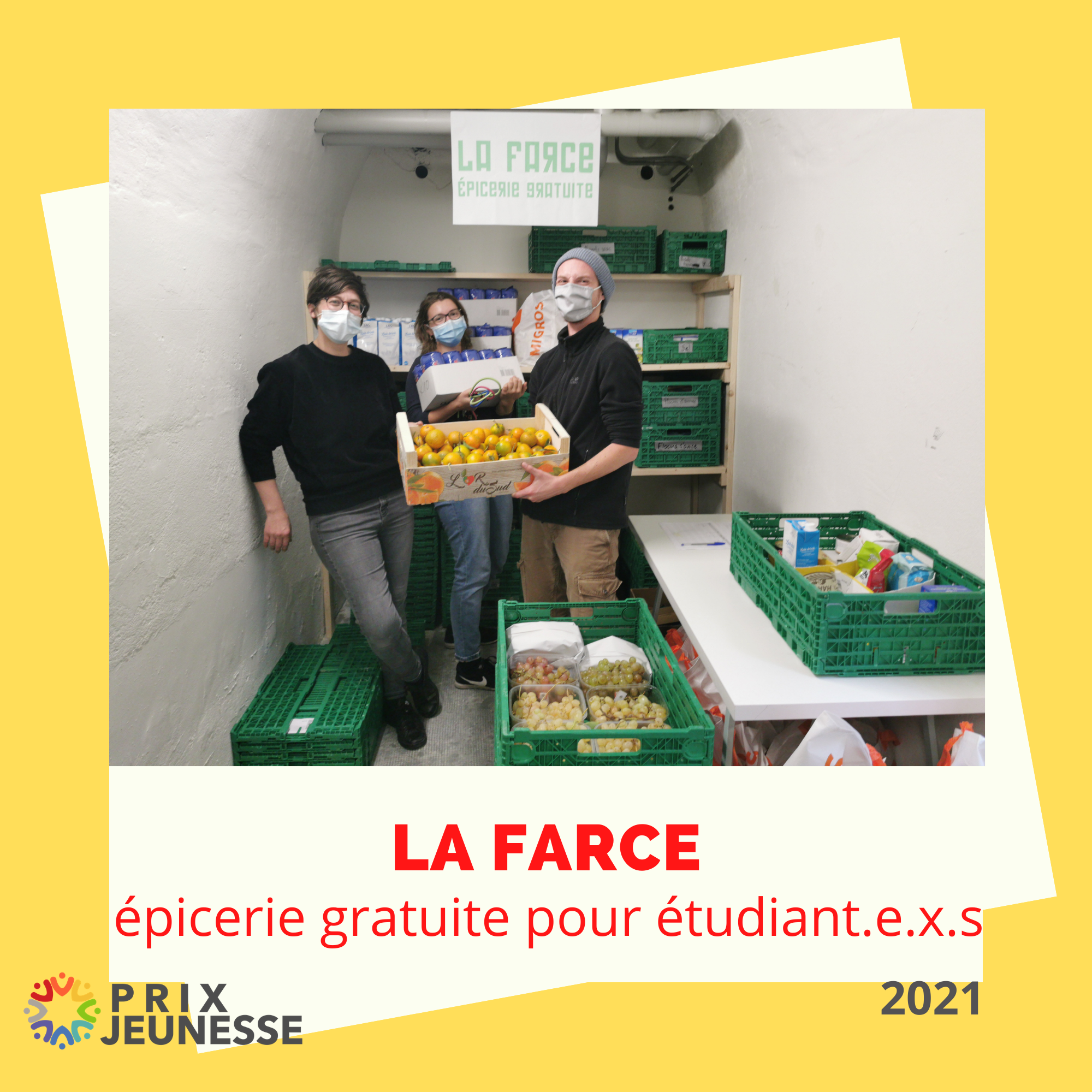 Candidat  La Farce, épicerie gratuite pour étudiant.e.x.s